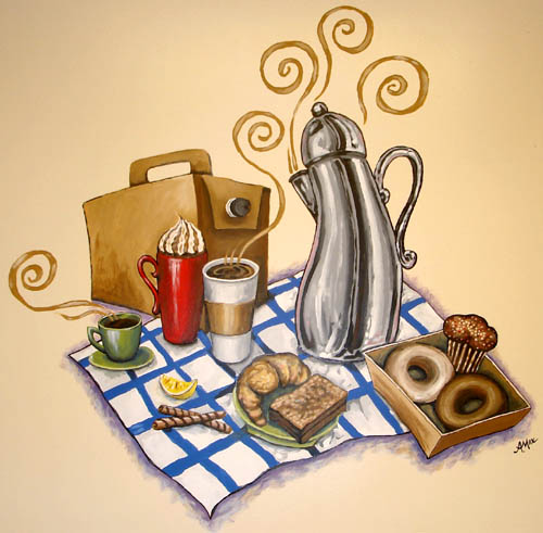 breakfast mural by Anastasia Mak