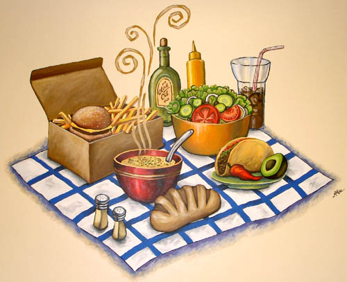 Lunch mural by Anastasia Mak