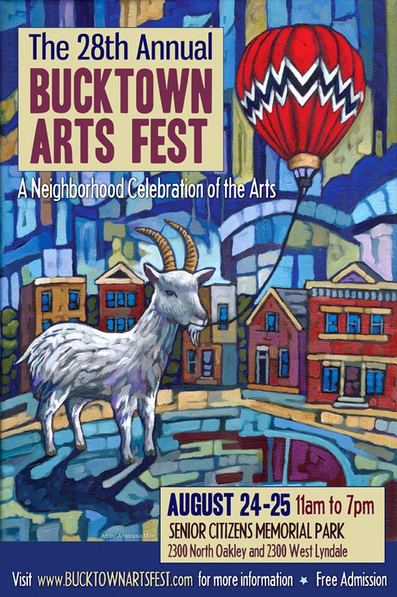 Bucktown Arts Fest poster 2013