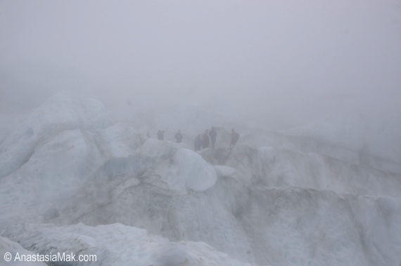 Franz Josef glacier fog