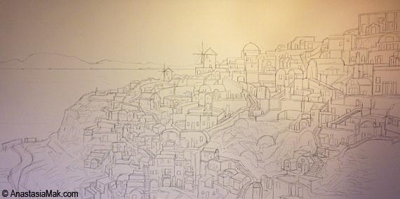 santorini sketch
