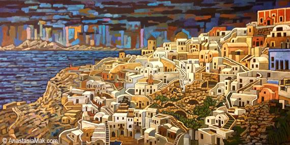 Santorini by Anastasia Mak