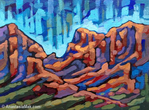 Chiricahua painting by Anastasia Mak